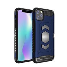 Silikon Hülle Handyhülle und Kunststoff Schutzhülle Tasche Magnetisch für Apple iPhone 11 Pro Max Blau