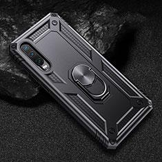 Silikon Hülle Handyhülle und Kunststoff Schutzhülle Tasche mit Magnetisch Ständer für Huawei P30 Schwarz