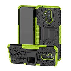 Silikon Hülle Handyhülle und Kunststoff Schutzhülle Tasche mit Ständer A03 für Huawei Mate 20 Lite Grün