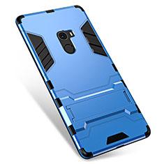 Silikon Hülle Handyhülle und Kunststoff Schutzhülle Tasche mit Ständer für Xiaomi Mi Mix Blau
