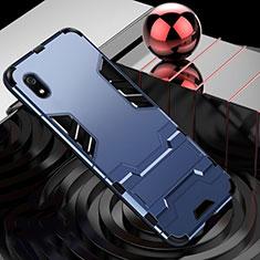 Silikon Hülle Handyhülle und Kunststoff Schutzhülle Tasche mit Ständer für Xiaomi Redmi 7A Blau