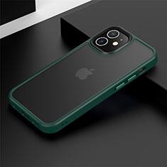 Silikon Hülle Handyhülle und Kunststoff Schutzhülle Tasche N01 für Apple iPhone 12 Mini Grün