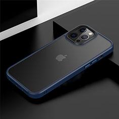 Silikon Hülle Handyhülle und Kunststoff Schutzhülle Tasche N01 für Apple iPhone 12 Pro Blau