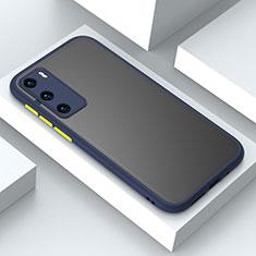 Silikon Hülle Handyhülle und Kunststoff Schutzhülle Tasche N02 für Huawei P40 Blau