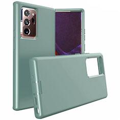 Silikon Hülle Handyhülle und Kunststoff Schutzhülle Tasche N02 für Samsung Galaxy Note 20 Ultra 5G Nachtgrün