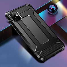 Silikon Hülle Handyhülle und Kunststoff Schutzhülle Tasche R01 für Apple iPhone 11 Schwarz