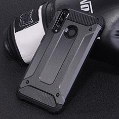 Silikon Hülle Handyhülle und Kunststoff Schutzhülle Tasche R01 für Huawei Honor 20 Lite Schwarz