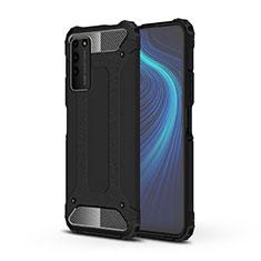 Silikon Hülle Handyhülle und Kunststoff Schutzhülle Tasche R01 für Huawei Honor X10 5G Schwarz