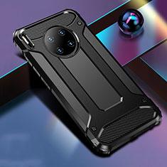Silikon Hülle Handyhülle und Kunststoff Schutzhülle Tasche R01 für Huawei Mate 30 Pro Schwarz