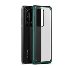 Silikon Hülle Handyhülle und Kunststoff Schutzhülle Tasche R01 für Huawei P40 Pro+ Plus Grün