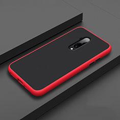 Silikon Hülle Handyhülle und Kunststoff Schutzhülle Tasche R01 für OnePlus 7T Pro Rot
