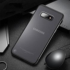 Silikon Hülle Handyhülle und Kunststoff Schutzhülle Tasche R01 für Samsung Galaxy S10e Schwarz