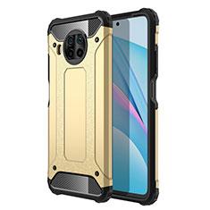 Silikon Hülle Handyhülle und Kunststoff Schutzhülle Tasche R01 für Xiaomi Mi 10T Lite 5G Gold