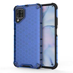 Silikon Hülle Handyhülle und Kunststoff Schutzhülle Tasche R02 für Huawei Nova 6 SE Blau