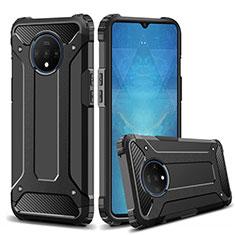 Silikon Hülle Handyhülle und Kunststoff Schutzhülle Tasche R02 für OnePlus 7T Schwarz