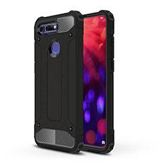 Silikon Hülle Handyhülle und Kunststoff Schutzhülle Tasche R03 für Huawei Honor V20 Schwarz