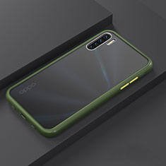 Silikon Hülle Handyhülle und Kunststoff Schutzhülle Tasche R03 für Oppo Find X2 Lite Cyan