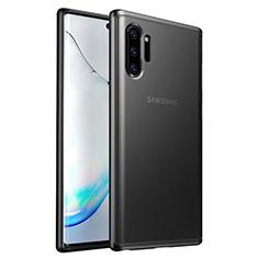 Silikon Hülle Handyhülle und Kunststoff Schutzhülle Tasche R03 für Samsung Galaxy Note 10 Plus 5G Schwarz