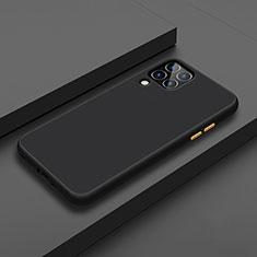 Silikon Hülle Handyhülle und Kunststoff Schutzhülle Tasche U01 für Huawei Nova 6 SE Schwarz