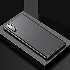 Silikon Hülle Handyhülle und Kunststoff Schutzhülle Tasche U01 für Samsung Galaxy Note 10 5G Schwarz