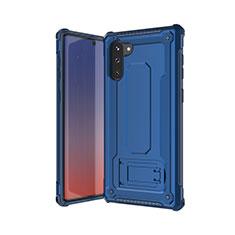 Silikon Hülle Handyhülle und Kunststoff Schutzhülle Tasche U01 für Samsung Galaxy Note 10 Blau