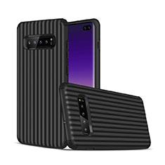 Silikon Hülle Handyhülle und Kunststoff Schutzhülle Tasche U01 für Samsung Galaxy S10 Plus Schwarz