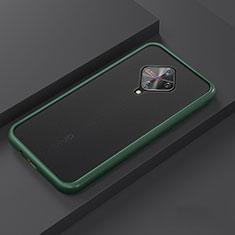 Silikon Hülle Handyhülle und Kunststoff Schutzhülle Tasche U01 für Vivo X50 Lite Cyan