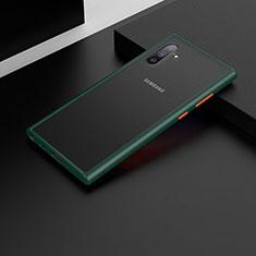 Silikon Hülle Handyhülle und Kunststoff Schutzhülle Tasche U04 für Samsung Galaxy Note 10 5G Grün