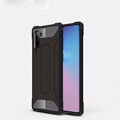 Silikon Hülle Handyhülle und Kunststoff Schutzhülle Tasche U05 für Samsung Galaxy Note 10 5G Schwarz