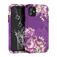 Silikon Hülle Handyhülle und Kunststoff Schutzhülle Tasche Vorder und Rückseite 360 Grad für Apple iPhone 11 Violett