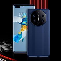 Silikon Hülle Handyhülle und Kunststoff Schutzhülle Tasche Vorder und Rückseite 360 Grad Ganzkörper R01 für Huawei Mate 40 Pro Blau