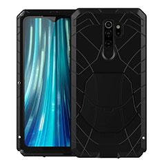 Silikon Hülle Handyhülle und Kunststoff Schutzhülle Tasche Vorder und Rückseite 360 Grad Ganzkörper R02 für Xiaomi Redmi Note 8 Pro Schwarz