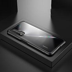 Silikon Hülle Handyhülle und Kunststoff Schutzhülle Tasche Z01 für Huawei Nova 6 5G Schwarz