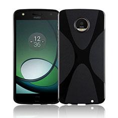 Silikon Hülle Handyhülle X-Line Schutzhülle Durchsichtig Transparent T01 für Motorola Moto Z Play Schwarz