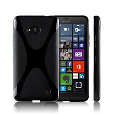 Silikon Hülle Handyhülle X-Line Schutzhülle für Microsoft Lumia 640 Schwarz