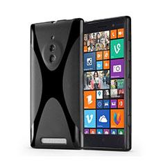 Silikon Hülle Handyhülle X-Line Schutzhülle für Nokia Lumia 830 Schwarz