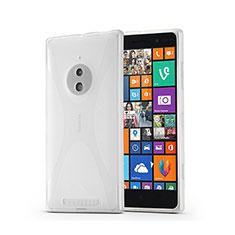 Silikon Hülle Handyhülle X-Line Schutzhülle für Nokia Lumia 830 Weiß