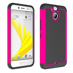 Silikon Hülle Rahmen Schutzhülle Durchsichtig Transparent Matt für HTC Bolt Pink