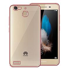 Silikon Hülle Rahmen Schutzhülle Durchsichtig Transparent Matt für Huawei Enjoy 5S Rosegold