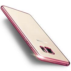 Silikon Hülle Rahmen Schutzhülle Durchsichtig Transparent Matt für Samsung Galaxy Note 7 Rosa