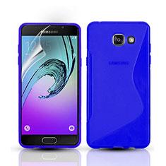Silikon Hülle S-Line Schutzhülle Durchsichtig Transparent für Samsung Galaxy A3 (2016) SM-A310F Blau