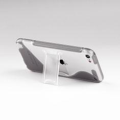 Silikon Hülle S-Line Stand Schutzhülle Durchsichtig Transparent für Apple iPod Touch 5 Grau