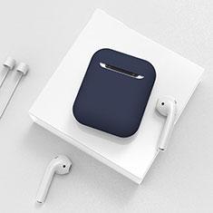 Silikon Hülle Schutzhülle Skin mit Karabiner für AirPods Ladekoffer C01 Blau