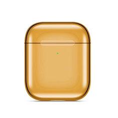 Silikon Hülle Schutzhülle Skin mit Karabiner für AirPods Ladekoffer C07 Gold