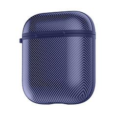 Silikon Hülle Schutzhülle Skin mit Karabiner für AirPods Ladekoffer C09 Blau