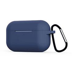 Silikon Hülle Schutzhülle Skin mit Karabiner für AirPods Pro Ladekoffer C02 Königs Blau