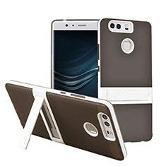 Silikon Hülle Stand Schutzhülle Matt für Huawei P9 Plus Grau