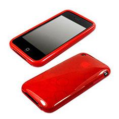 Silikon Hülle Transparent Schutzhülle Kreis für Apple iPhone 3G 3GS Rot