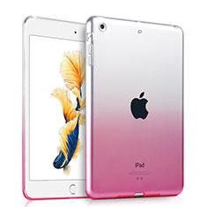 Silikon Hülle Ultra Dünn Schutzhülle Durchsichtig Farbverlauf für Apple iPad Air Rosa