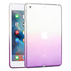 Silikon Hülle Ultra Dünn Schutzhülle Durchsichtig Farbverlauf für Apple iPad Mini 3 Violett